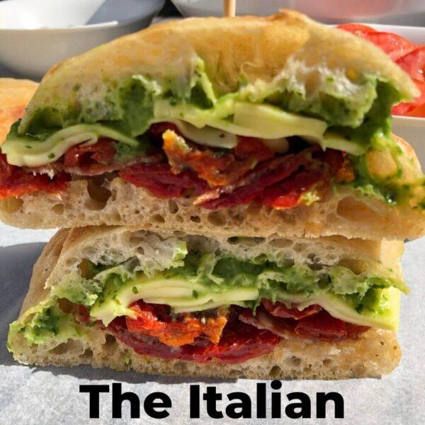 Italian ciabatta roll
